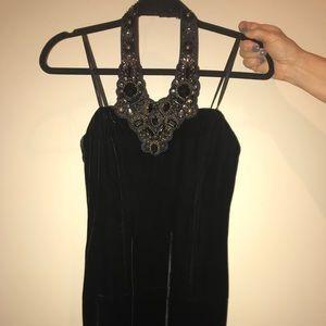 Laundry by Shelli women's black velvet dress